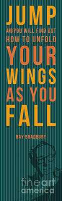 Ray Bardbury Quote - Jump Poster