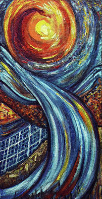Poster featuring the painting Ray Of Hope 3 by Harsh Malik