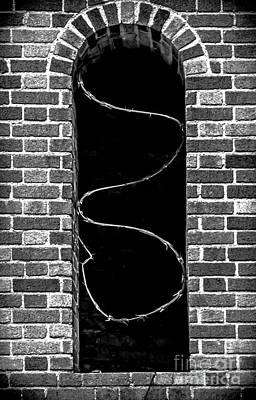 Razor Wire Window Poster