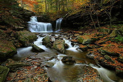 R.b. Ricketts Falls In Autumn Poster