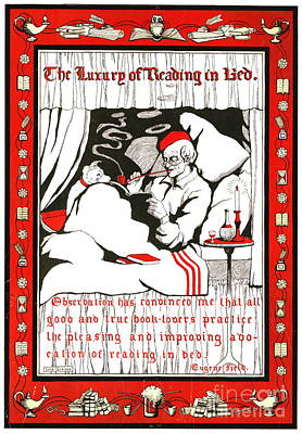 Reading In Bed 1905 Poster by Padre Art