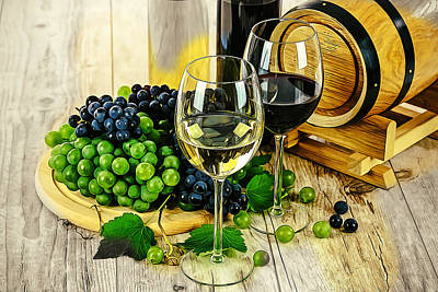 Ready For A Wine Tasting Poster by Elaine Plesser