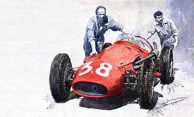Ready For Racing Maserati 250 F Poster by Yuriy  Shevchuk