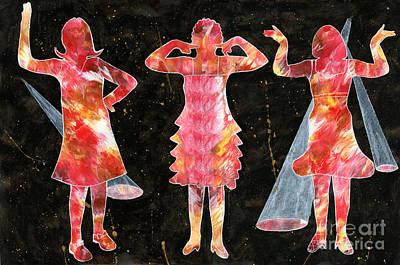 Besties - Ready To Dance Poster by Lori Kingston