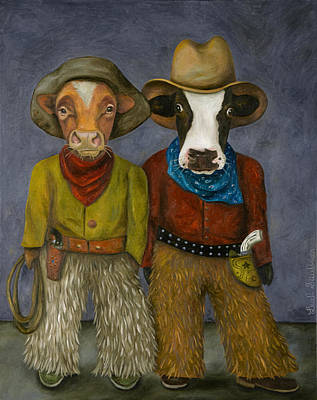 Real Cowboys Poster by Leah Saulnier The Painting Maniac