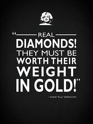 Real Diamonds Poster by Mark Rogan