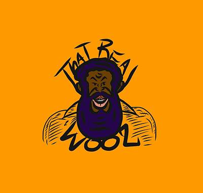 Real Wool Gold Poster