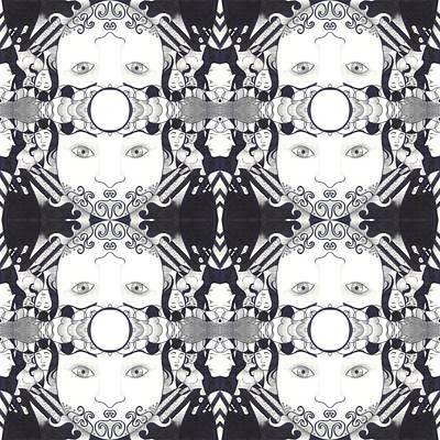 Recalling The Goddess 2 Tile Poster by Helena Tiainen