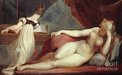 Reclining Nude And Woman At The Piano Poster