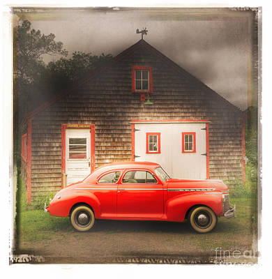 Red 41 Coupe Poster by Craig J Satterlee