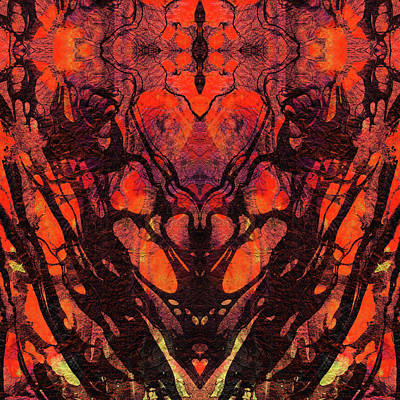 Red Abstract Art - Heart Matters - Sharon Cummings Poster