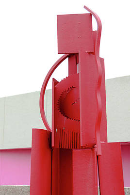 Red Abstract Sculpture Poster