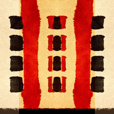 Red And Black Panel Number 3 Poster