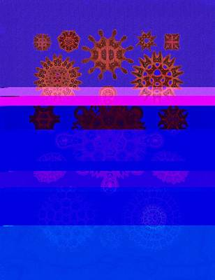 Red And Blue Algae Poster by Diane Addis