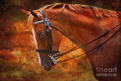 Red And Gold - Horse Art By Michelle Wrighton Poster by Michelle Wrighton