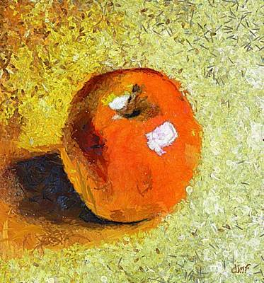 Poster featuring the painting Red Apple by Dragica  Micki Fortuna