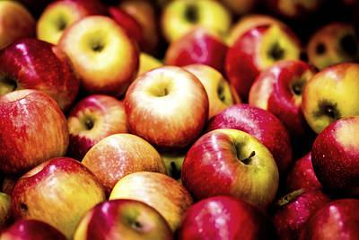 Red Apple Poster by Jijo George