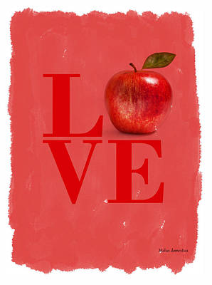 Red Apple Poster by Mark Rogan