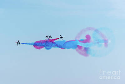 Poster featuring the photograph Red Arrows Break by Gary Eason