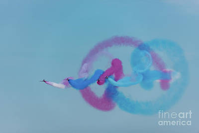Poster featuring the photograph Red Arrows Gypo Swirls by Gary Eason