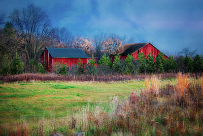 Red Barn At Retzer Nature Center Poster by Jennifer Rondinelli Reilly - Fine Art Photography