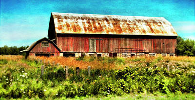 Red Barn No.1 Poster by Tammy Wetzel