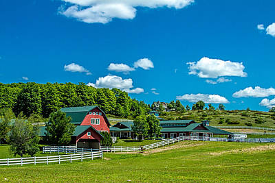 Red Barn On Hoyt Road Poster
