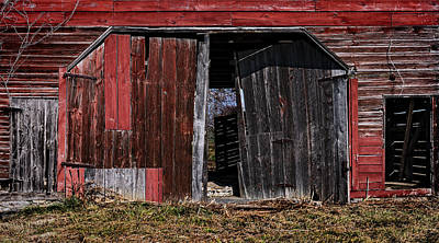 Red Barn Side Poster