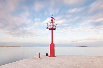 Poster featuring the photograph Red Beacon by Davor Zerjav