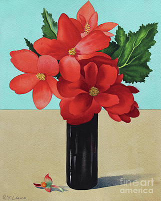Red Begonias Poster