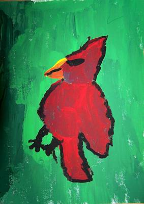 Red Bird Poster by Ed Shaw