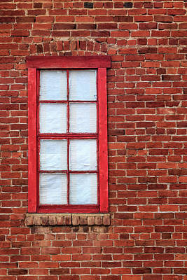 Poster featuring the photograph Red Brick And Window by James Eddy