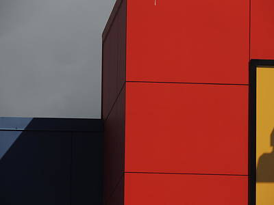 Red Building Abstract 1 Poster