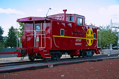 Red Caboose Poster by Sharon I Williams