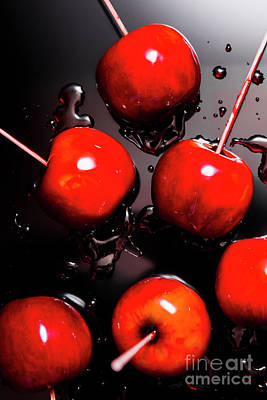 Red Candy Apples Or Apple Taffy Poster by Jorgo Photography - Wall Art Gallery