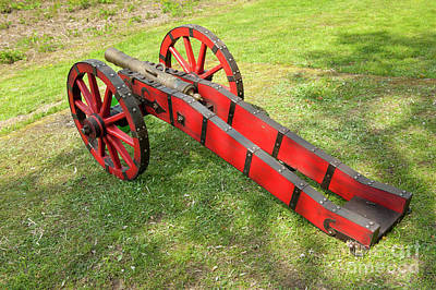Red Cannon At Swedes Invasion Poster by Arletta Cwalina