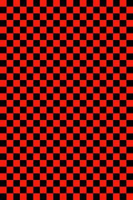 Red Checker Board Poster by Daniel Hagerman