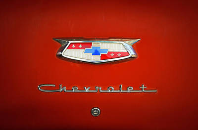 Poster featuring the photograph Red Chevy Bel-air Trunk by Marilyn Hunt