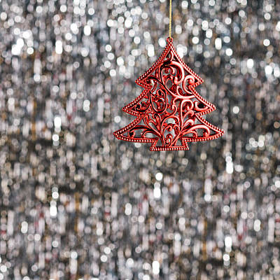 Poster featuring the photograph Red Christmas Tree by Ulrich Schade