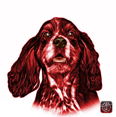Red Cocker Spaniel Pop Art - 8249 - Wb Poster by James Ahn