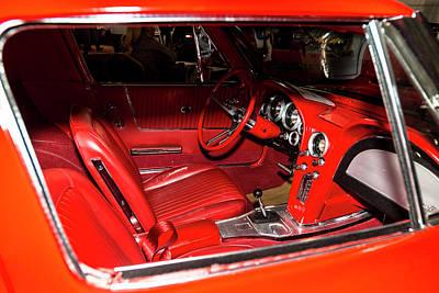 Red Corvette Stingray Poster