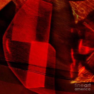 Red Cut Glass In Sunlight Poster by Elena Lir-Rachkovskaya