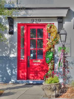 Red Door At Night -- Sailor's Delight Poster by David Bearden