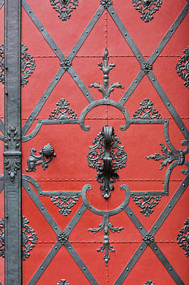 Poster featuring the photograph Red Door In Prague - Czech Republic by Melanie Alexandra Price