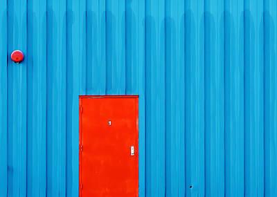 Red Door No. 9 Poster by Todd Klassy