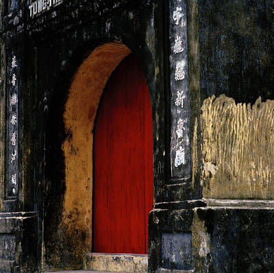 Red Doorway Poster