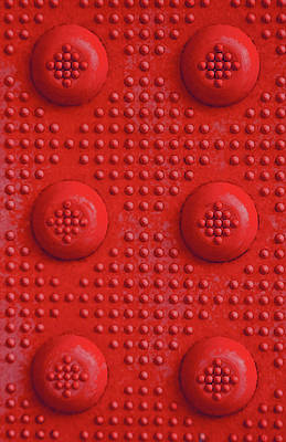 Red Dots Industrial Portrait Poster