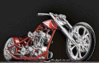 Red Embossed Custom Poster by Wayne Bonney