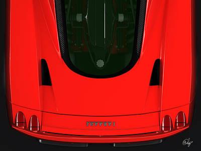 Red Enzo Ferrari Logo  Poster