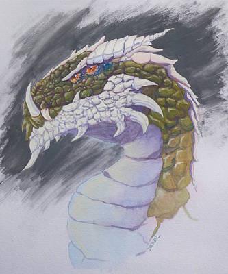Red Eye Dragon Poster by Robert Decker
